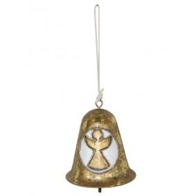 Złoty dzwoneczek - Świąteczna zawieszka Anioł
