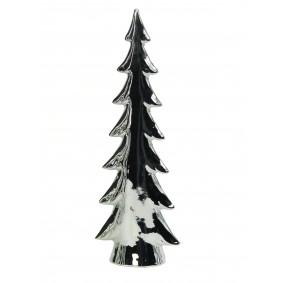 Figurka świąteczna ceramiczna choinka srebrna 28,5 cm
