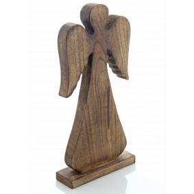 Drewniany Anioł 31cm/15cm BRĄZ