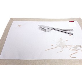 SREBRNA CHOINKA - podkładka świąteczna 35 x 50cm