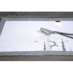 SREBRO (Boże Narodzenie)-podkładka 35/50cm
