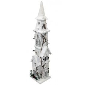 Dekoracja świąteczna domek LED 60 cm Biały