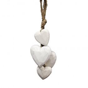Zawieszka drewniane serca białe PROMO!