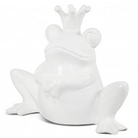 Żaba ceramiczna biała  22x15x14 Hamer