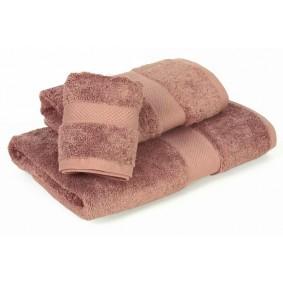 INSPIRACJA COMBED- ręcznik 50/100cm (700gsm) - JASNY BRĄZ