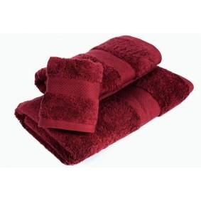 INSPIRACJA COMBED - ręcznik 50/100cm (700gsm) - BORDO