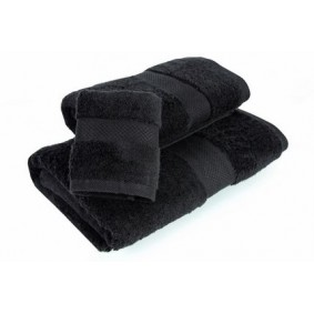 INSPIRACJA COMBED - ręcznik 50/100cm (700gsm) - CZERŃ