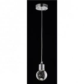 Sufitowa chromowo - szklana lampa Bulb