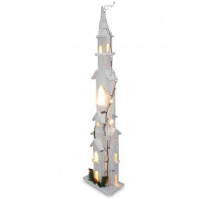 Wysoki Drewniany domek LED 90 cm Świąteczna dekoracja