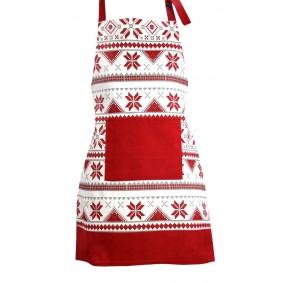 Inspiracja SKANDYNAWSKI Świąteczny fartuch kuchenny