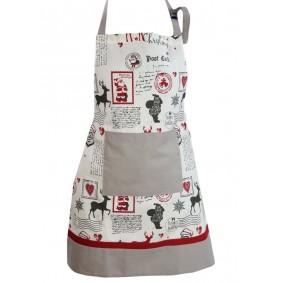 Inspiracja MIKOŁAJ świąteczny fartuch kuchenny