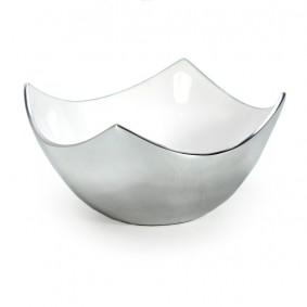 Miska kwadratowa aluminium 12/6cm - BIEL