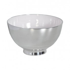 Miska okrągła aluminiowa 15/10cm - BIEL