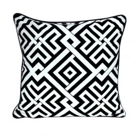 INSPIRACJA poszewka geometryczny wzór czarno-biała 45x45