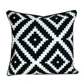 INSPIRACJA poszewka geometryczna rzymski (czarno-biała) 45x45