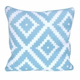 INSPIRACJA poszewka geometryczna rzymski (błękitna) 45x45