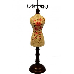 Stojak Na Biżuterię Retro Róże Beż 36cm