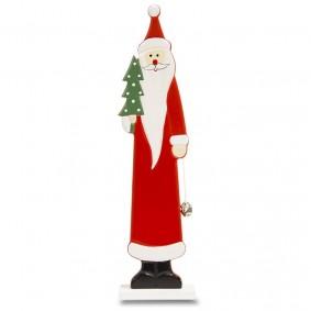 Świąteczna drewniana Figurka MIkołaja 35 cm