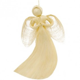 Anioł Z Włókna Abaka Wiszący (średni)
