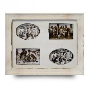 Duża ramka na cztery zdjęcia - shabby chic
