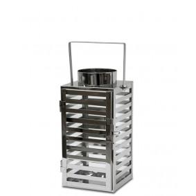 Lampion Metalowy z uchwytem, srebrny 27-33 cm