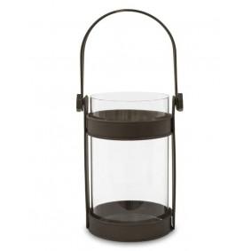 Klimatyczny Lampion - świecznik ze stali 33.5 cm