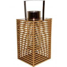 Lampion Drewniany Skandynawski kosz 35 cm