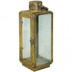 Lampion Metalowy złoty, 30,5x11x11