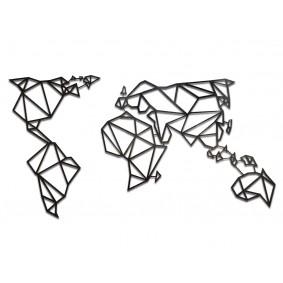 Dekoracja na ścianę - geometryczna MAPA ŚWIATA