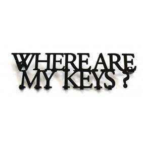 Wieszak na klucze WHEARE ARE MY KEYS