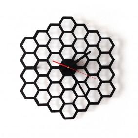 TIK TAK: heksagonalny układ, zegar HAXA 40cm