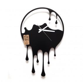 TIK TAK: oryginalny zegar ścienny PLASK 40cm