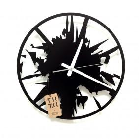 TIK TAK:  nieszablonowy zegar TRZASK! 40cm