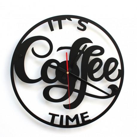 TIK TAK Piękny i ciekawy zegar COFFE 40cm