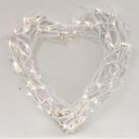 Serce Wiklinowe Led duże 52 cm