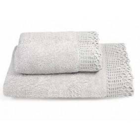 KORONKA ADA -ręcznik 50/90cm SZARY