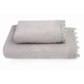 KORONKA IGA -ręcznik 50/90cm CAPPUCCINO
