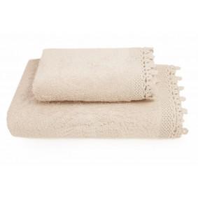 KORONKA IGA -ręcznik 50/90cm KREM