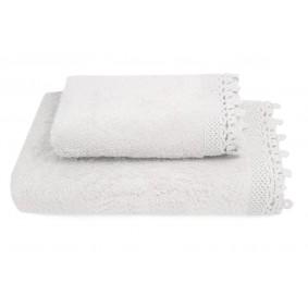 KORONKA IGA -ręcznik 70/140cm BIEL