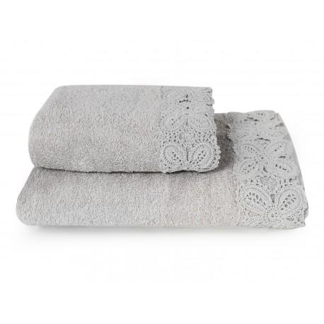 KORONKA ULA -ręcznik 50/90cm szary