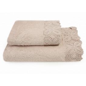KORONKA ULA -ręcznik 50/90cm PIASKOWY