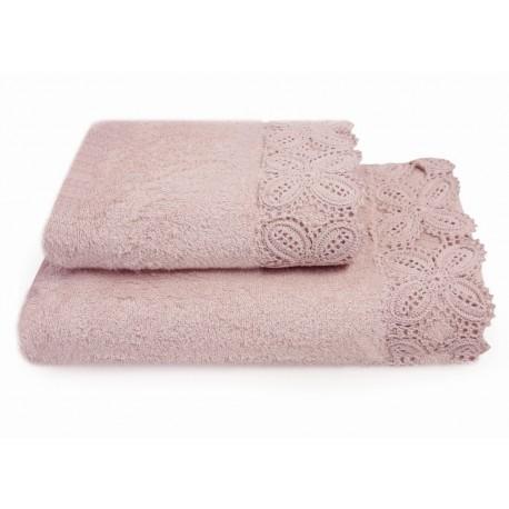 KORONKA ULA -ręcznik 50/90cm RÓŻ