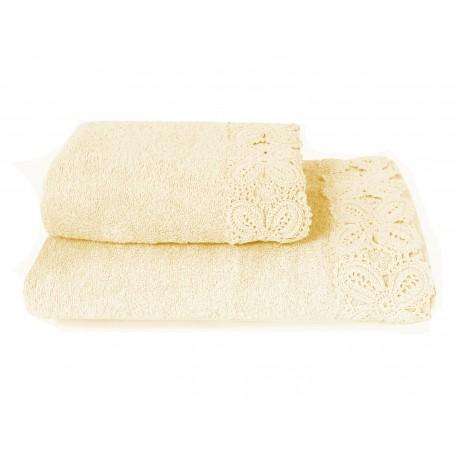 KORONKA ULA -ręcznik 50/90cm KREM