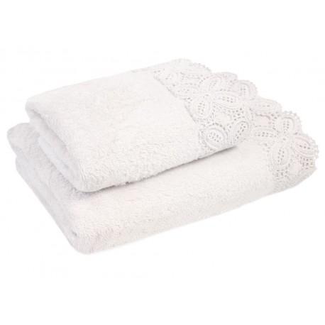 KORONKA ULA -ręcznik70x140cm BIEL