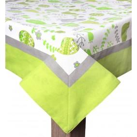Wielkanoc ZAJĄC (zieleń) - obrus 85/85cm