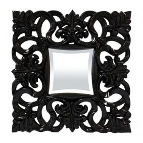 Kryształowe Czarne Lustro 53x53 cm