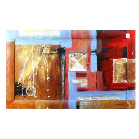 Obraz olejny w ramie abstrakcja G00625