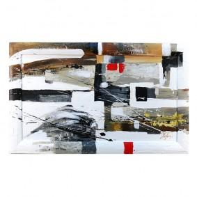 Obraz olejny w ramie abstrakcja G00626