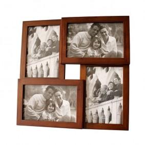 Rodzinna drewniana ramka na zdjęcia 4w1
