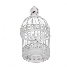 Klatka dla ptaków - świecznik shabby chic